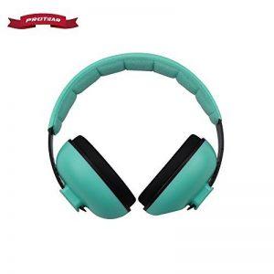Protear enfants casque anti-bruit, Réduction de bruit Cache-oreilles, bandeau réglable protection auditive Pour Bébé 3 Mois à 12 Ans,Menthe verte de la marque image 0 produit