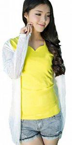 Qingsun Tops à manches longues Anti-UV Veste de Sport Femme Légère Pratique-Blanc de la marque Qingsun image 0 produit
