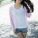 Qingsun Tops à manches longues Anti-UV Veste de Sport Femme Légère Pratique-Rose de la marque Qingsun image 2 produit