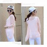 Qingsun Tops à manches longues Anti-UV Veste de Sport Femme Légère Pratique-Rose de la marque Qingsun image 3 produit