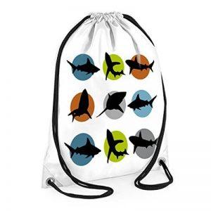 Shark Swim Sac, sacs pour garçon, garçon Sac de sport Sac de piscine, étanche, grands sacs de natation de la marque tigerlilyprints image 0 produit