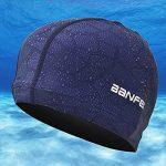 SheShy Hommes Flexible Imperméable Résistant à l'humidité Bonnet de natation de taille adulte Fibre de coton Bonnet de bain de la marque image 4 produit