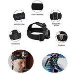 SHOOT 7 en 1 Accessoires Pack Kit Sports Camera pour GoPro Hero 6/5/4/3+/3 Crosstour Campark YI 2K Nouveau APEMAN Tectectec Ceinture Tête Bandoulière + Poitrine Sangle + Grip Flottant de la marque SHOOT image 2 produit