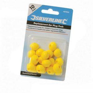 Silverline 457023 Paquet de 10 bouchons d'oreilles pour arceau de la marque Silverline image 0 produit