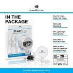 SoundBarren Bouchons d'oreille, 28 dB protection auditive haute fidélité pour dormir, ronflement, Motos, les concerts, et de les musiciens de la marque SoundBarren image 4 produit