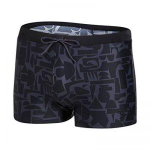 Speedo - Valmilton noir gris - Maillot de bain boxer de la marque Speedo image 0 produit