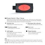 Sudroid Casque étanche MP3, écouteurs stéréo hi-fi, mémoire 8Go pour Natation, surf, Course à pied, Sport, design récompensé de la marque image 4 produit