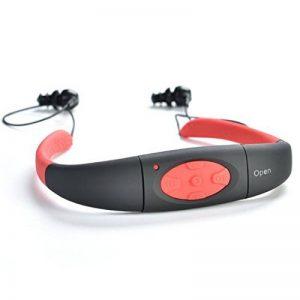 Sudroid Casque étanche MP3, écouteurs stéréo hi-fi, mémoire 8Go pour Natation, surf, Course à pied, Sport, design récompensé de la marque image 0 produit