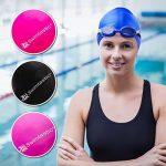 Swimtastic Bonnet de bain résistant aux déchirures pour nageurs aux cheveux longs, épais ou bouclés de la marque image 3 produit