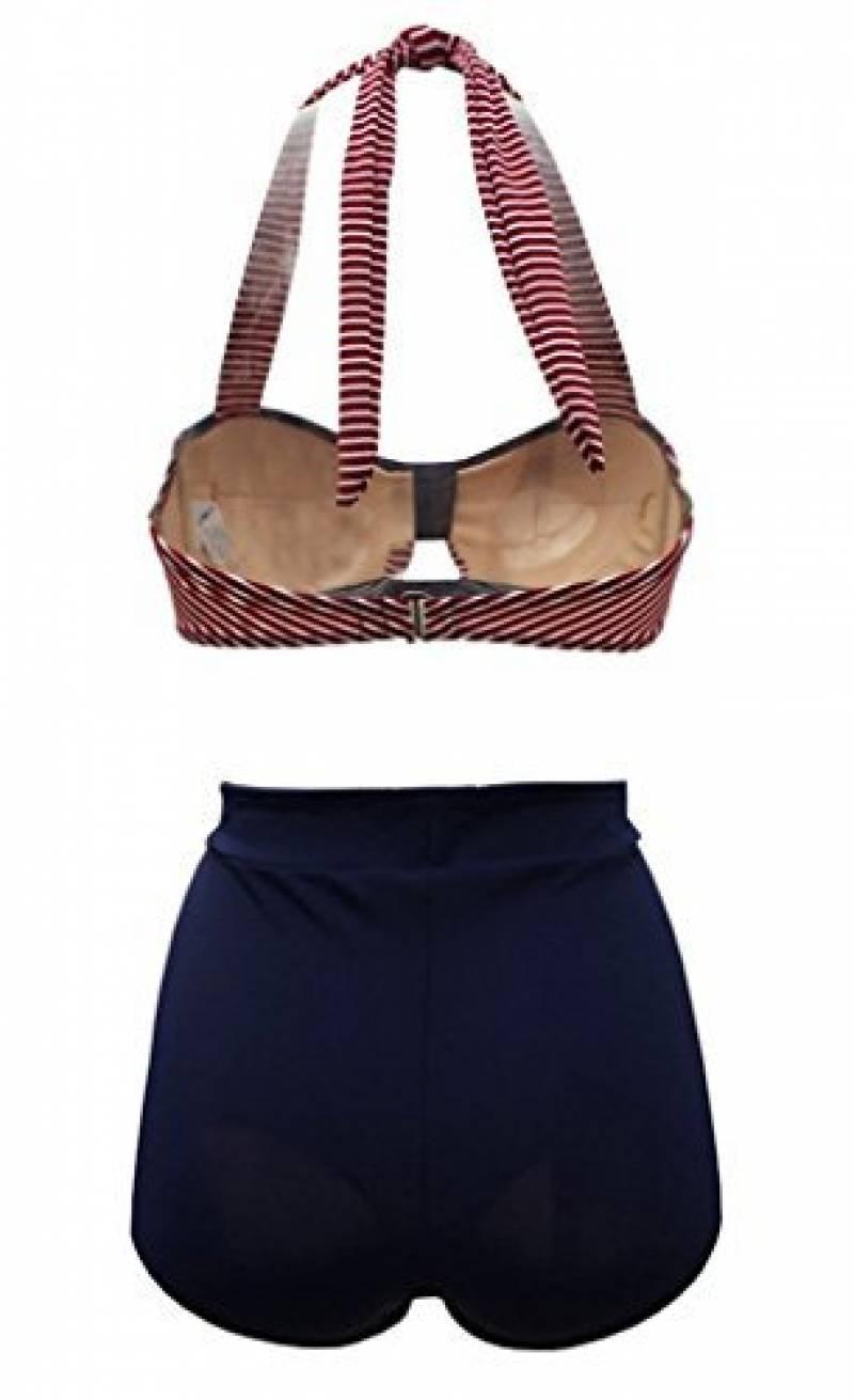 d460d3ac81 Tailloday Vintage Bikini Retro Femme 2 pieces Maillot de bain Taille haute  style de la marque Tailloday. Spécifications. Polyester; En voir plus...  Images