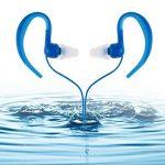étanche Écouteurs, AGPtek Se01IPX8casque avec crochet d'oreille pour le sport et la natation, Bleu de la marque image 2 produit