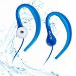 étanche Écouteurs, AGPtek Se01IPX8casque avec crochet d'oreille pour le sport et la natation, Bleu de la marque image 3 produit