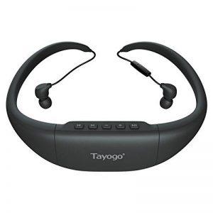 Tayogo étanche casque Bluetooth et lecteur MP38Go et lecteur FM pour natation Surf randonnée Course, noir de la marque image 0 produit