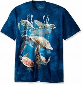 The Mountain Unisex Adult Sea Turtle Family Aquatic T Shirt de la marque The Mountain image 0 produit
