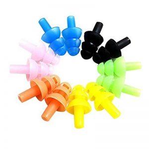 ULTNICE 6 set Silicone natation Bouchons d'oreille et Pince nez Pour les enfants et les adultes (Couleur assortie) de la marque image 0 produit