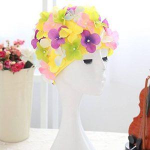 WINOMO Bonnet de bain Floral chapeau de bain pour femmes (coloré) de la marque image 0 produit
