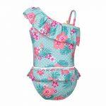 YiZYiF Fille Maillot de bain Floral Imprimé 2 Pièces Plage Bikini Pour Enfants Costume De Natation Bretelle Plage D'été Tankini Swimsuit 1-10 Ans de la marque YiZYiF image 1 produit