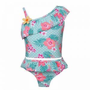 YiZYiF Fille Maillot de bain Floral Imprimé 2 Pièces Plage Bikini Pour Enfants Costume De Natation Bretelle Plage D'été Tankini Swimsuit 1-10 Ans de la marque YiZYiF image 0 produit