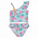 YiZYiF Fille Maillot de bain Floral Imprimé 2 Pièces Plage Bikini Pour Enfants Costume De Natation Bretelle Plage D'été Tankini Swimsuit 1-10 Ans de la marque YiZYiF image 2 produit