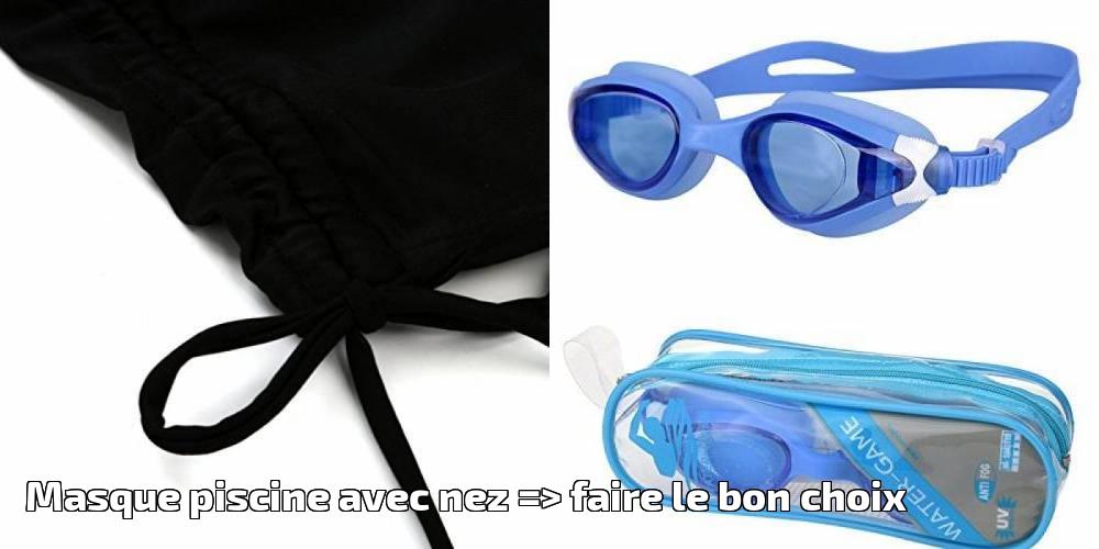 Masque piscine avec nez faire le bon choix pour 2019 - Maillot de bain transparent piscine ...